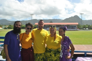 What's left of the 2011-12 WorldTeach group: The Beard, Heidi, Drew (our Field Director, a 2010-11 volunteer) Amber, and me!