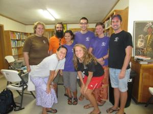 The whole Manu'a group, with our WT Field Director | 2012