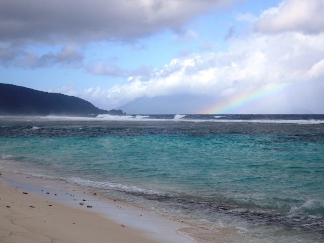 Rainbow from Ofu Beach