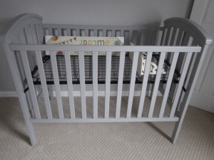 Painted crib