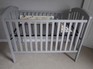 Painted crib